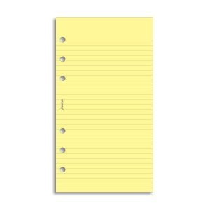 Filofax Personal - Ruled Notepaper - Yellow