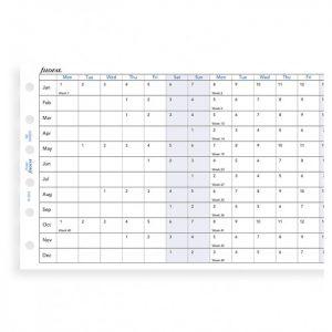 Filofax Pocket - Full Year Horizontal Planner - 2021