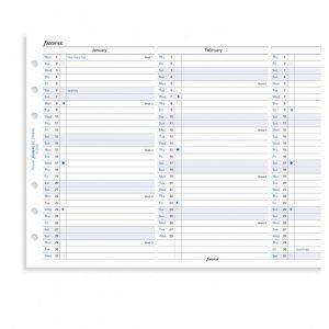 Filofax Personal - Full Year Vertical Planner - 2022