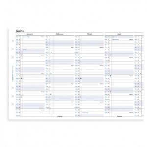 Filofax A5 - Full Year Vertical Planner - 2021