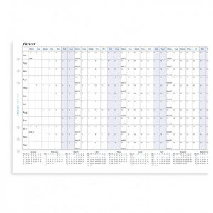 Filofax A5 - Full Year Horizontal Planner - 2021