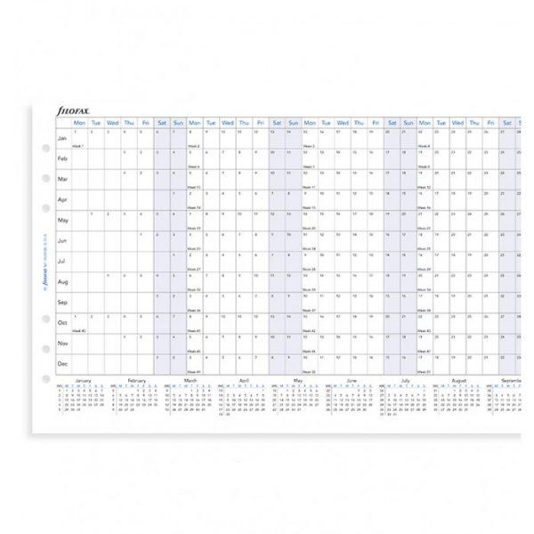 Filofax A5 - Full Year Horizontal Planner - 2021