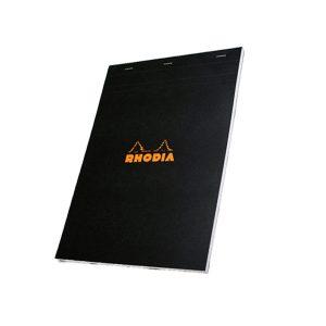 Rhodia Head Stapled Pad - Black - Graph