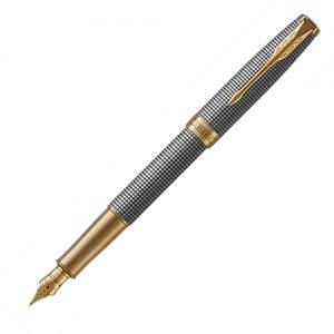Parker Sonnet Sterling Silver Ciselé GT Fountain Pen