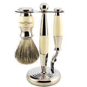Edwin Jagger Shaving Set Mach3 Ivory