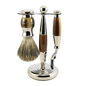 Edwin Jagger Shaving Set Mach3 Brown