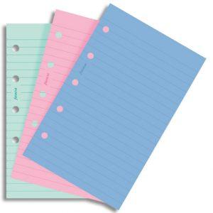 Filofax Mini - Ruled Notepaper - Fashion Colors