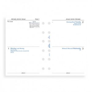 Filofax Pocket - Two Days Per Page - 2021