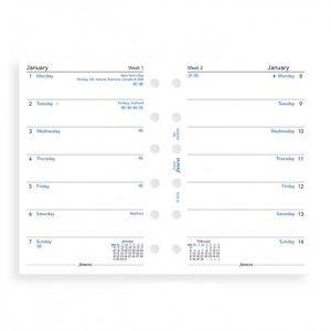 Filofax Pocket - Week Per Page - 2021
