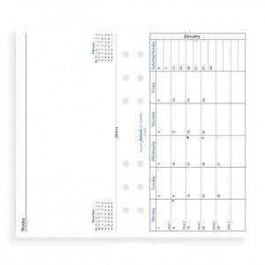 Filofax Personal - Month Per Page - 2021