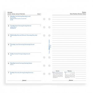 Filofax Personal - Week Per Page With Notes - 2021