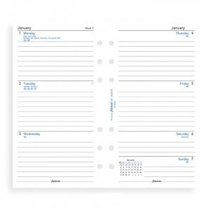 Filofax Personal - Week On Two Pages - Lined - 2021