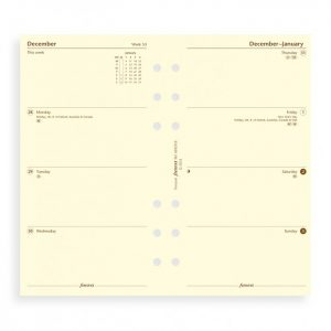 Filofax Personal - Week On Two Pages - Cotton Cream - 2021