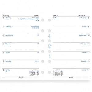 Filofax Personal - Week Per Page - 2021