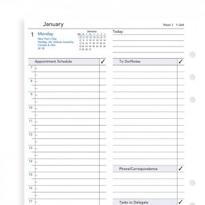 Filofax A5 - Day Per Page - Business Style - 2021