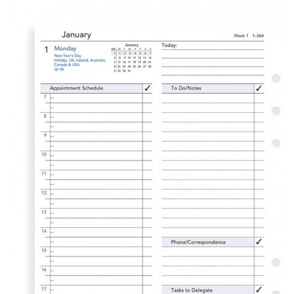 Filofax A5 - Day Per Page - Business Style - 2021