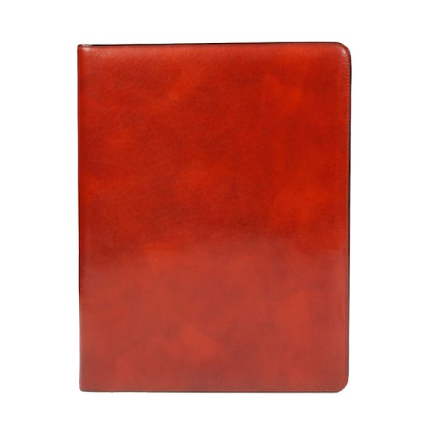 Bosca Old Leather Classic All Leather Pad Cover 8.5 X 11 - Cognac