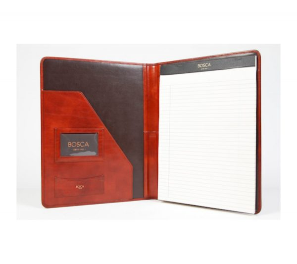 Bosca Old Leather Classic 8 1/2 X 11 Writing Pad Cover - Cognac
