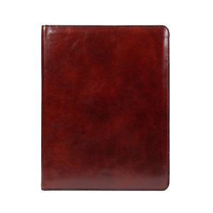 Bosca Old Leather Classic All Leather Pad Cover 8.5 X 11 - Dark Brown