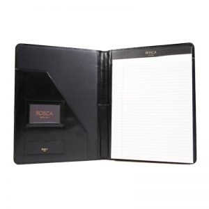 Bosca Old Leather Classic 8 1/2 X 11 Writing Pad Cover - Black