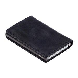 Secrid Slim Wallet Card Holder Black Vintage Leather