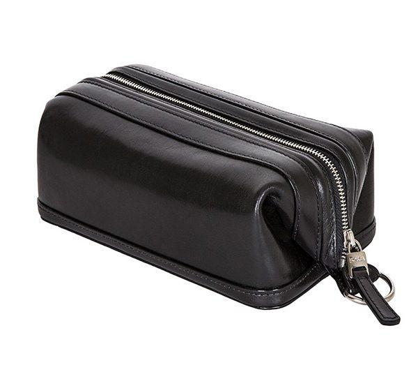 "Bosca 10"" Zip Utilikit - Black Old leather"