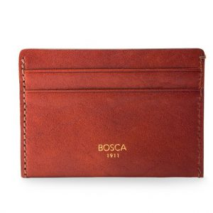 Bosca Washed Weekend Wallet Cognac