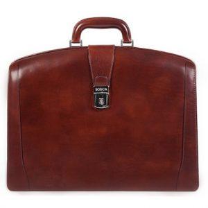 Bosca Partners Briefcase Brown