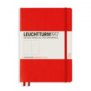 Leuchtturm 1917 Medium A5 Dot Grid Notebook – Red