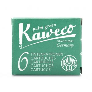 Kaweco Ink Cartridges 6 pk - Palm Green