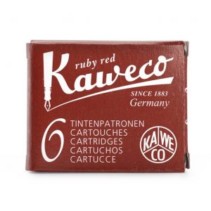 Kaweco Ink Cartridges 6 pk - Ruby Red