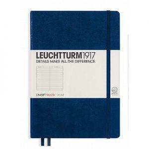 Leuchtturm 1917 Medium A5 Dot Grid Notebook – Navy