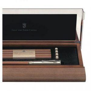 Graf von Faber-Castell Perfect Pencil Desk Set - Brown Alderwood