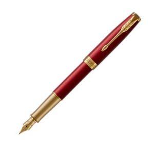 Parker Sonnet Red Lacquer GT Fountain Pen (Gold Nib)