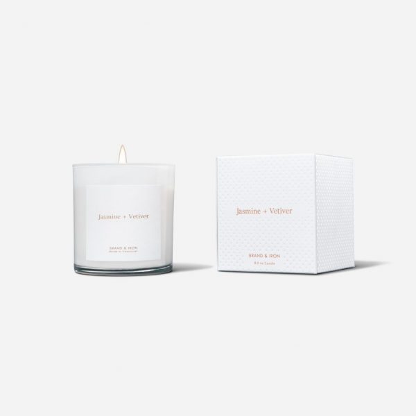 Brand & Iron Candle - Jasmine + Vetiver