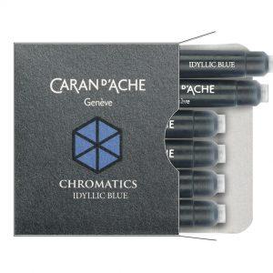 Caran D'Ache ink cartridge - Idyllic Blue