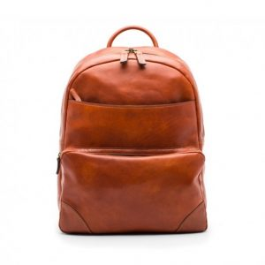 Bosca Dolce Leather Backpack Amber