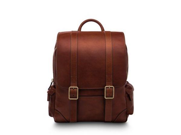 Bosca Cafe Leather Backpack