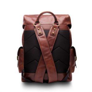 Bosca Pathfinder Leather Backpack