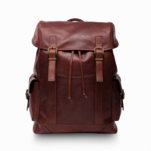 Bosca Pathfinder leather backpack brown