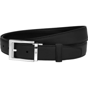 Montblanc Black cut-to-size Business Belt Smooth Leather
