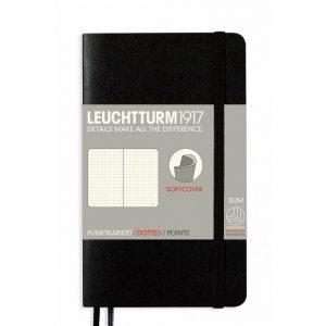 Leuchtturm 1917 Notebook A6 Softcover Dot - Black