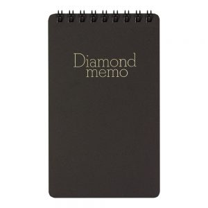 Midori Diamond Memo L Ruled - Black