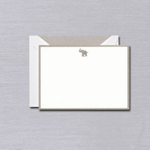 Crane Elephant Bordered Card Set