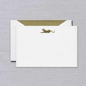 Crane Leopard Card Set