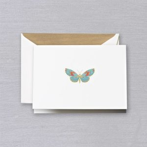 Crane Engraved Butterfly Note Set