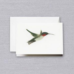Crane Brushstroke Hummingbird Note Set