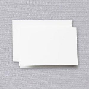 Crane Pearl White Folded Note Set