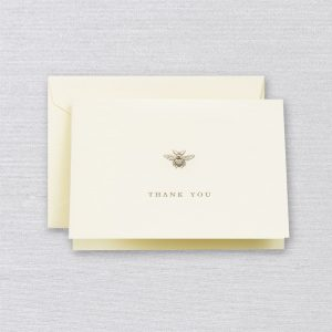 Crane Bumble Bee Thank You Note Set