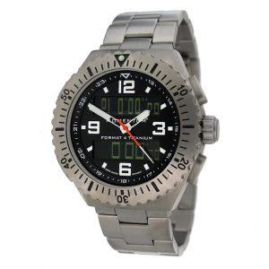 Momentum Mens Watch Format 4 Titanium (43mm) Black Face